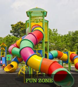 Fun zone area for kids